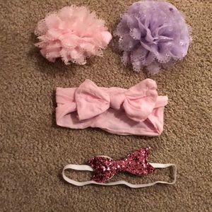 Other - 4 baby girl headbands